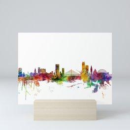 Liege Belgium Skyline Mini Art Print