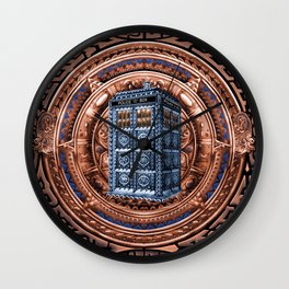 Aztec Tardis doctor who full color iPhone 4 4s 5 5c 6, pillow case, mugs and tshirt Wall Clock