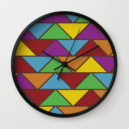 Colorful Triangle V(Ranging Tribuj Pach) Wall Clock