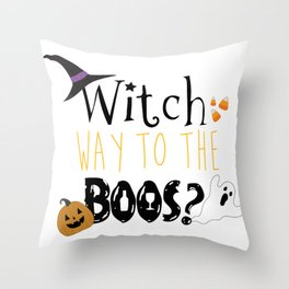 Witch way to the boos? Throw Pillow