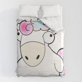 Unicornio gordo Duvet Cover