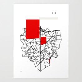 Flat noise Art Print