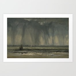 The Waterspout by Gustave Courbet Art Print