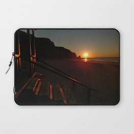 Shack by the sea at sunrise Laptop Sleeve