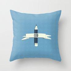 Lucky pencil Throw Pillow