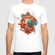 rhinos stone White SMALL Mens Fitted Tee