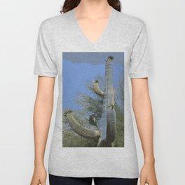 Saguaro Abstract Unisex V-Neck
