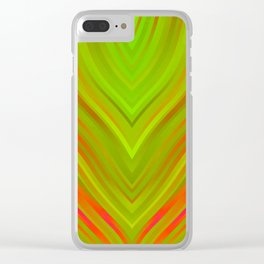 stripes wave pattern 3 w81 Clear iPhone Case