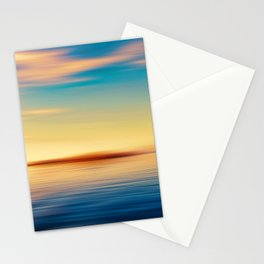 Sunset Seascape Island Stationery Cards