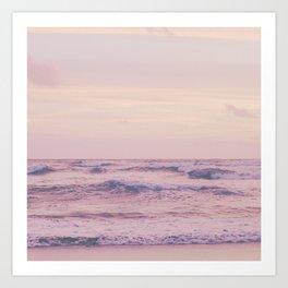 Ocean and sky Pink Art Print