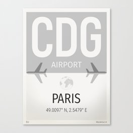 CDG airport Paris Canvas Print