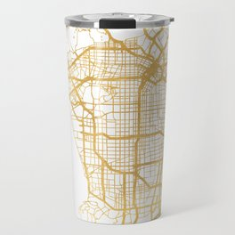 LOS ANGELES CALIFORNIA CITY STREET MAP ART Travel Mug