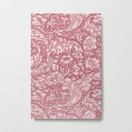 Pink Bachelors Button by William Morris Metal Print