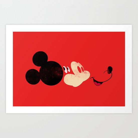Deconstructing Mickey Art Print