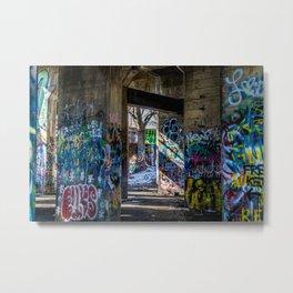 Graffiti Playground Metal Print