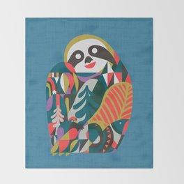Nordic Sloth Throw Blanket