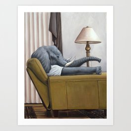 Elephant in the Room Art Print