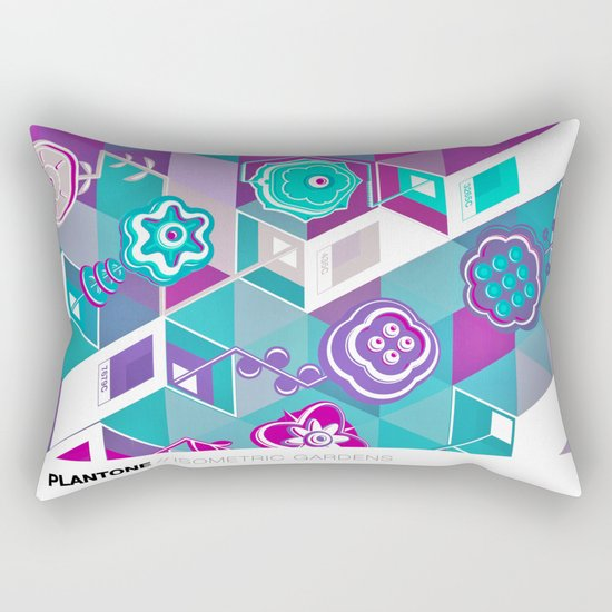 PLANTONE // Isometric Gardens Rectangular Pillow