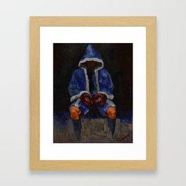 Sitting Fighter Framed Art Print
