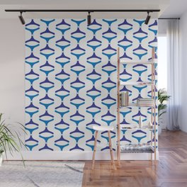 Negative Waves: Shades of Blue Wall Mural