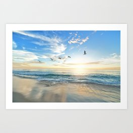 Beach Scene 34 Art Print