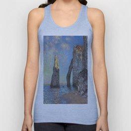 Claude Monet's The Cliffs at Etretat Unisex Tank Top
