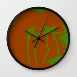 Crying Pepe Simple Wall Clock