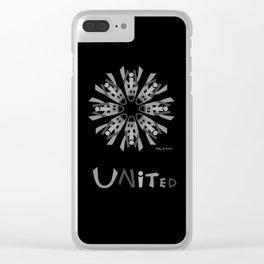 United Mandala with UNITED - Black Clear iPhone Case