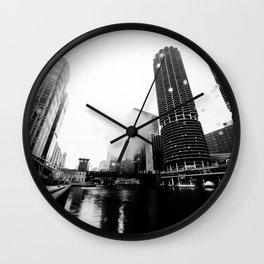 CHICAGO RAIN Wall Clock