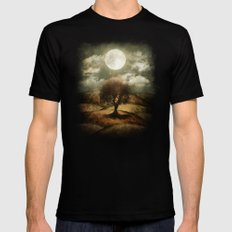 Once upon a time... The lone tree. Black X-LARGE Mens Fitted Tee