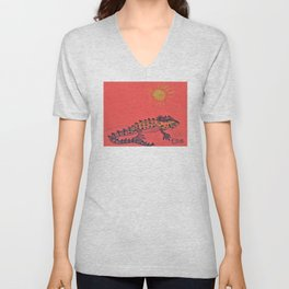 Crocodile Skink Unisex V-Neck