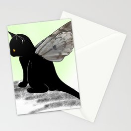 Black Kitten Fairy Stationery Cards
