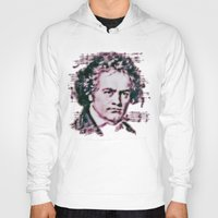 beethoven Hoodies featuring Beethoven by Zandonai