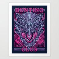 gore Art Prints featuring Hunting Club: Gore Magala by MeleeNinja