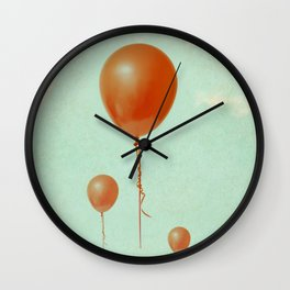 Balloons in flight Wall Clock