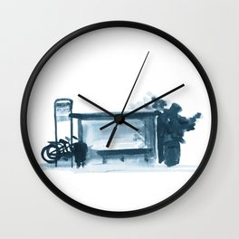 Bus Stop Wall Clock