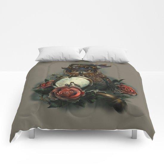 Sir Owl. Steampunk Comforters