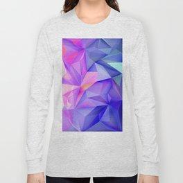 Pink Geometric Pattern Long Sleeve T-shirt
