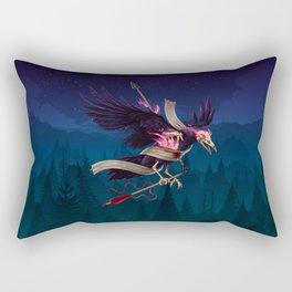 Undead Crow Rectangular Pillow