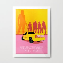 Kill Bill - Minimalist Metal Print