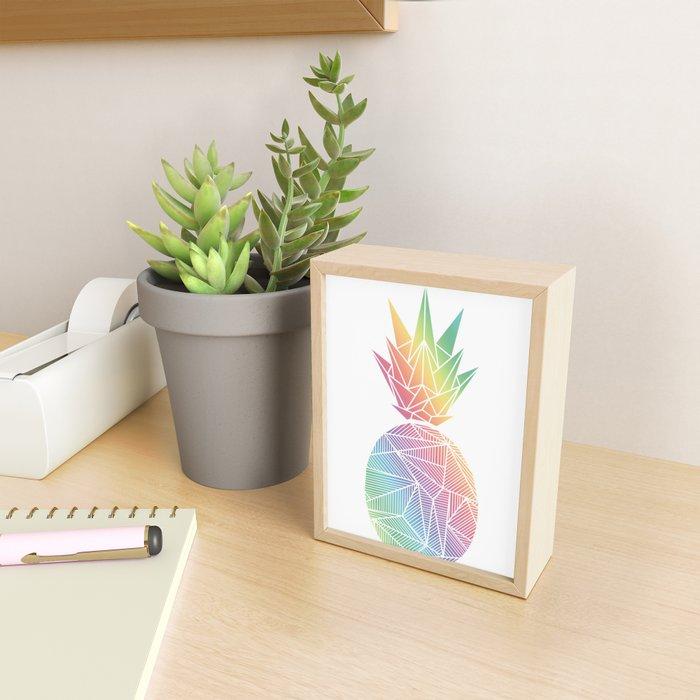Billy Rays Pineapple Framed Mini Art Print