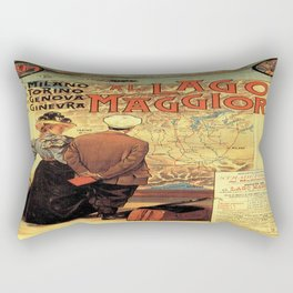 Vintage poster - Lago Maggiore Rectangular Pillow
