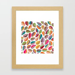 Leaf Colorful Framed Art Print
