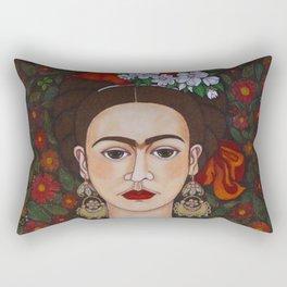 Frida with butterflies Rectangular Pillow