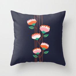 Benoít Flowers Throw Pillow