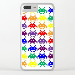 Rainbow Invasion Clear iPhone Case