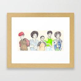 The Get dOWN Framed Art Print