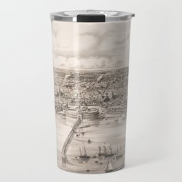 Vintage Pictorial Map of Buenos Aires Argentina (1850) Travel Mug