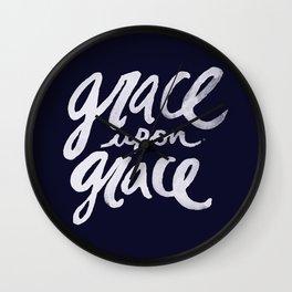 Grace upon Grace x Navy Wall Clock