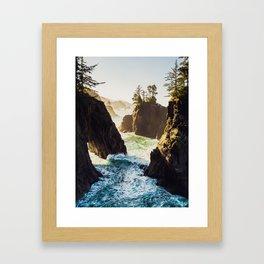 Sunrise at Natural Bridges - Samuel H. Boardman State Scenic Corridor, Oregon Framed Art Print